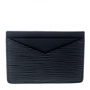 Louis Vuitton Black Epi Leather Neo Porte Cartes Card Holder