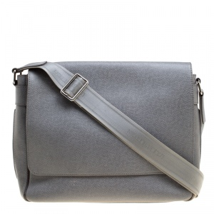 Louis Vuitton Grey Taiga Leather Roman MM Bag