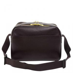 Louis Vuitton Burgundy Taiga Leather Reporter PM Bag