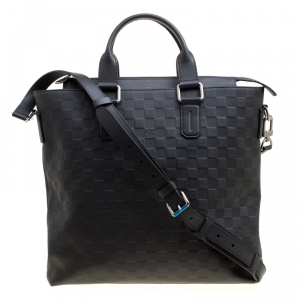 Louis Vuitton Black Damier Infini Leather Daily Bag