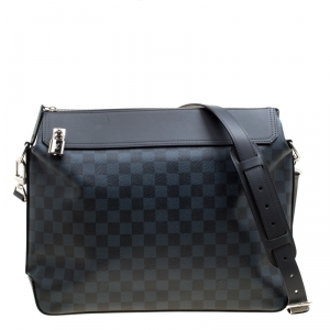 Louis Vuitton Damier Cobalt Canvas and Leather Greenwich Messenger Bag