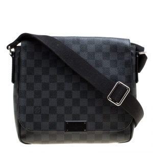 Louis Vuitton Damier Graphite Canvas District PM Bag