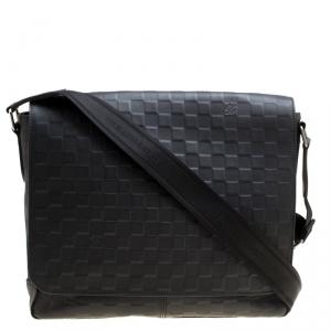 Louis Vuitton Onyx Damier Infini Leather District MM Bag