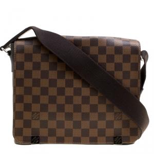 Louis Vuitton Damier Ebene Canvas District PM Bag