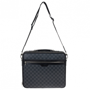 Louis Vuitton Black Damier Ebene Canvas Steeve Messenger