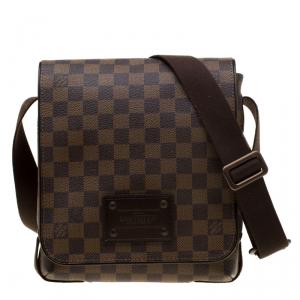 Louis Vuitton Brown Damier Ebene Canvas PM Brooklyn Messenger Bag