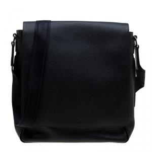 Louis Vuitton Navy Blue Taiga Leather Roman MM Bag