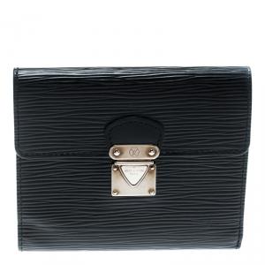 Louis Vuitton Black Epi Leather Koala Wallet