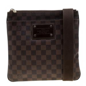 Louis Vuitton Damier Ebene Brooklyn Pochette Plate Bag