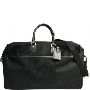 Louis Vuitton Black Damier Geant Canvas Albatros Duffel Bag