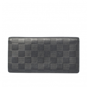 Louis Vuitton Onyx Damier Infini Leather Brazza Wallet