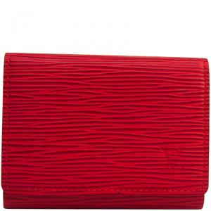 Louis Vuitton Rouge Epi Leather Business Card Case