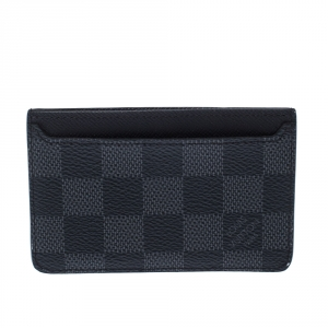 Louis Vuitton Black Damier Graphite Canvas Neo Porte-Cartes Card Holder