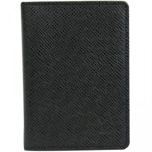 Louis Vuitton Black Taiga Leather Card Case