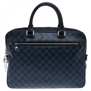 Louis Vuitton Damier Cobalt Canvas Porte-Documents Business Briefcase