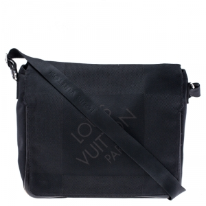 Louis Vuitton Black Damier Geant Canvas Messenger Bag