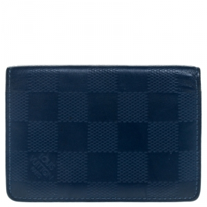 Louis Vuitton Blue Damier Infini Leather Pocket Organizer