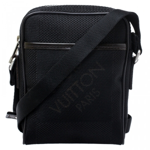 Louis Vuitton Black Geant Canvas Compagnon Messenger Bag