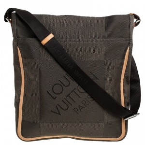 Louis Vuitton Terre Damier Geant Canvas Vertical Messenger Bag