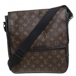 Louis Vuitton Monogram Macassar Canvas Bass MM Messenger Bag