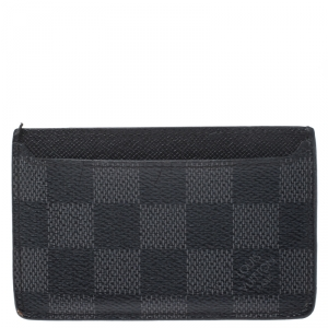 Louis Vuitton Black Damier Graphite Canvas Neo Porte Cartes Card Holder