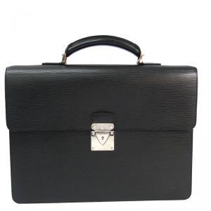 Louis Vuitton Black Epi Leather Robusto 1 Compartment Briefcase