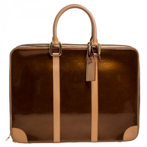 Louis Vuitton Bronze Monogram Vernis Vandam Briefcase