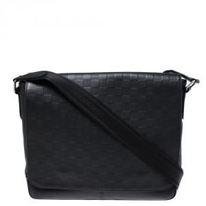 Louis Vuitton Onyx Damier Infini Leather District MM Bag