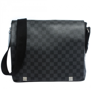 Louis Vuitton Damier Graphite Canvas District MM Bag