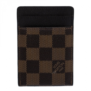 Louis Vuitton Damier Ebene Pince Money Clip Cardholder