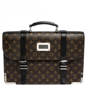 Louis Vuitton Monogram Maccassar Canvas and Leather Larry Briefcase