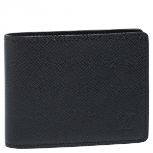 Louis Vuitton Black Taiga Leather Slender Bifold Wallet