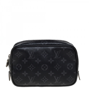 Louis Vuitton Monogram Eclipse Canvas Toilet Pouch PM
