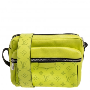Louis Vuitton Jaune Monogram Eclipse Canvas and Tiaga Leather Outdoor Messenger Bag