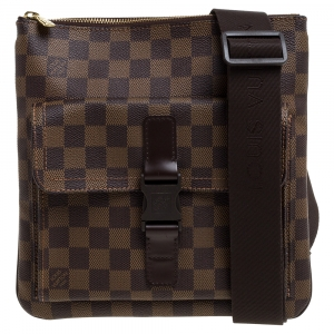 Louis Vuitton Damier Ebene Canvas Melville Pochette Bag