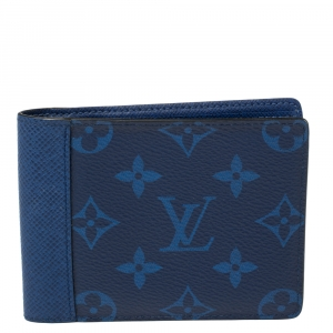 Louis Vuitton Cobalt Taïgarama Monogram Coated Canvas Multiple Wallet