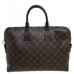 Louis Vuitton Monogram Macassar Canvas Porte-Documents Jour Bag