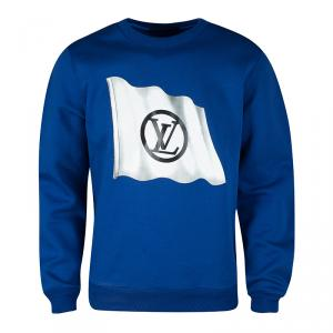 Louis Vuitton Blue Flag Print Sweatshirt XL