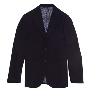 Louis Vuitton Uniforms Navy Blue Wool Slim Blazer XS