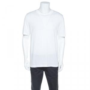 Louis Vuitton White Cotton Classic V Neck T-Shirt XXL
