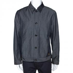Louis Vuitton Dark Blue Wool Blend Denim Jacket XXL