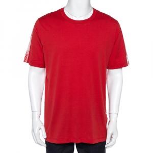 Louis Vuitton Red Cotton Playing Cards Print T-Shirt XXL