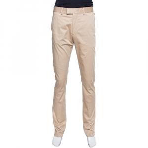 Louis Vuitton Beige Cotton Classic Slim Fit Trousers L