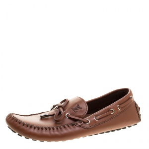 Louis Vuitton Brown Leather Arizona Loafers Size 42