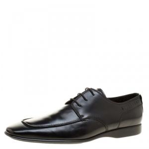 Louis Vuitton Black Leather Lace Up Derby Size 43.5