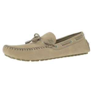 Louis Vuitton Beige Leather Arizona Loafers Size 45