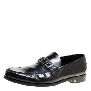 Louis Vuitton Black Leather Major Loafers Size 43