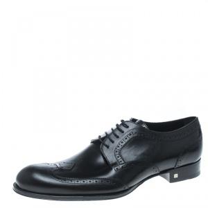 Louis Vuitton Black Brogue Leather Derby Size 43.5