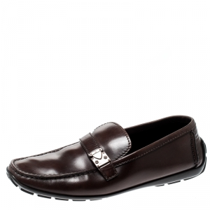 Louis Vuitton Brown Leather Loafers Size 42