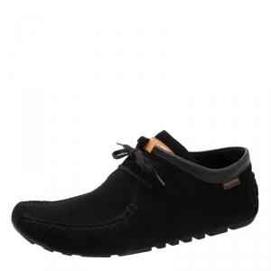 Louis Vuitton Black Suede Lace Up Boots Size 39.5